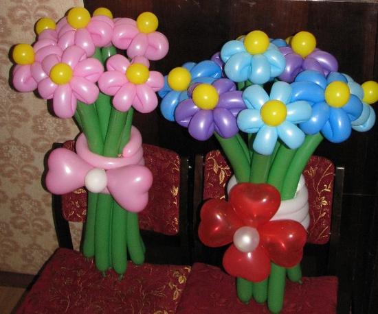 Цветы из шаров своими руками с фото