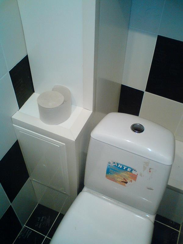 В туалете закрыть трубы панелями пластиковыми своими руками
