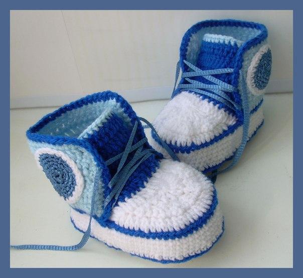 Вязание на спицах тапочки пинетки носки