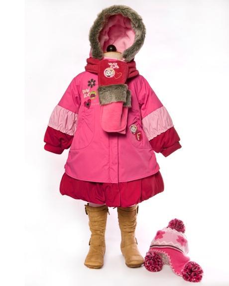 Купить Deux par Deux Зимнее детское пальто для девочки I-911-55 рост