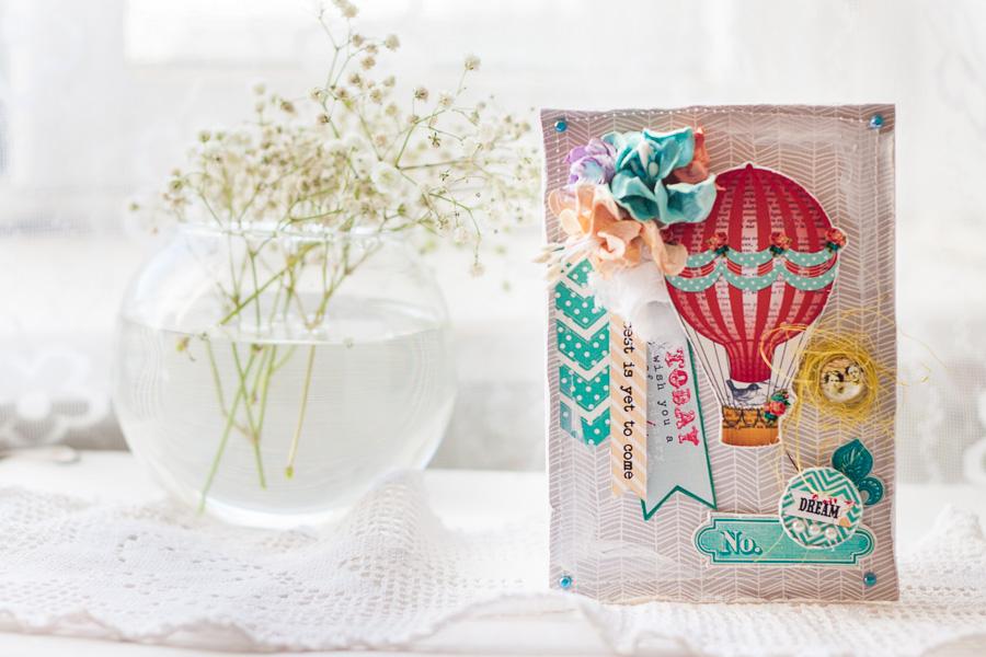 Поздравлением, открытки скрапбукинг шары