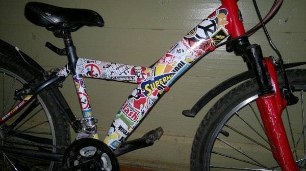 Оклейка велосипеда своими руками 77