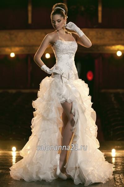 главное свадебные короткие платья со шлейфом вот