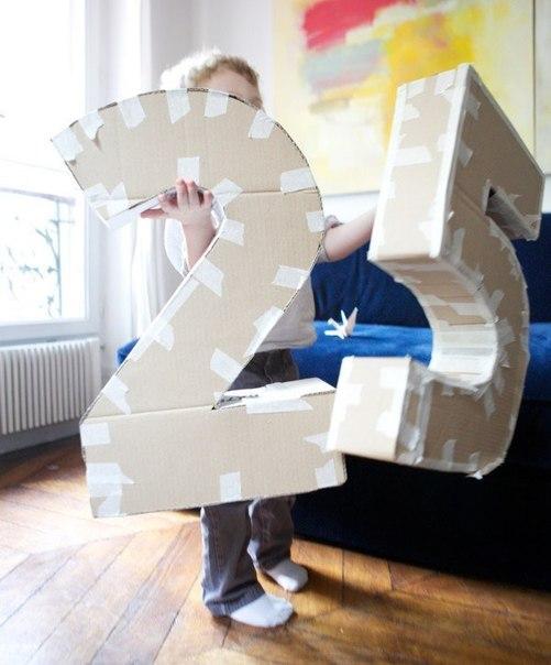 Как сделать цифру из картона своими руками