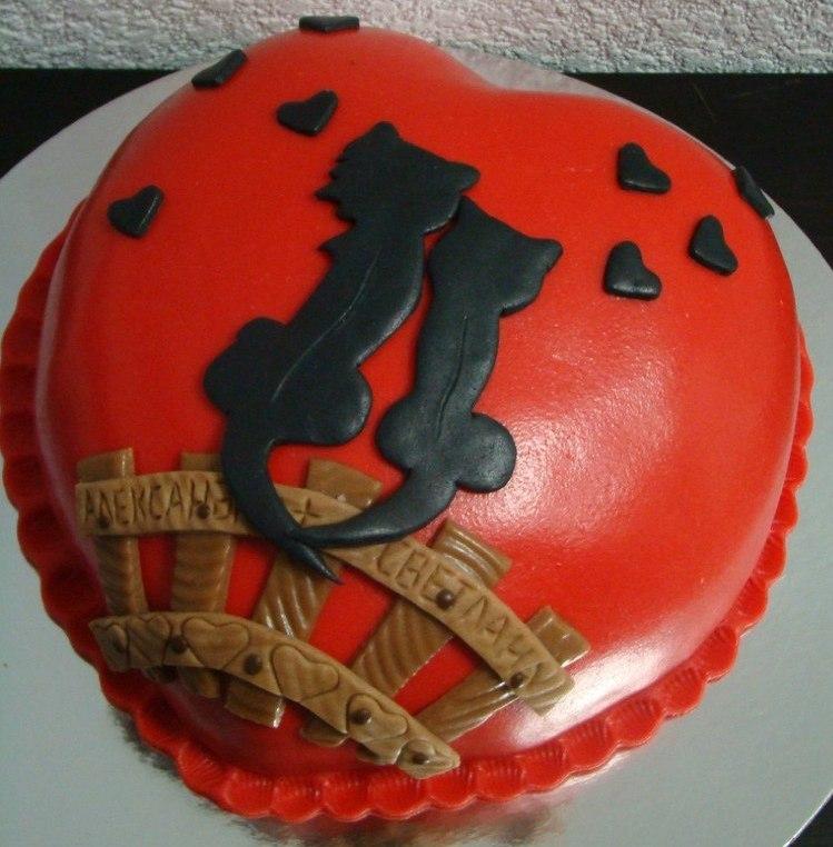 Фото торта на 14 февраля
