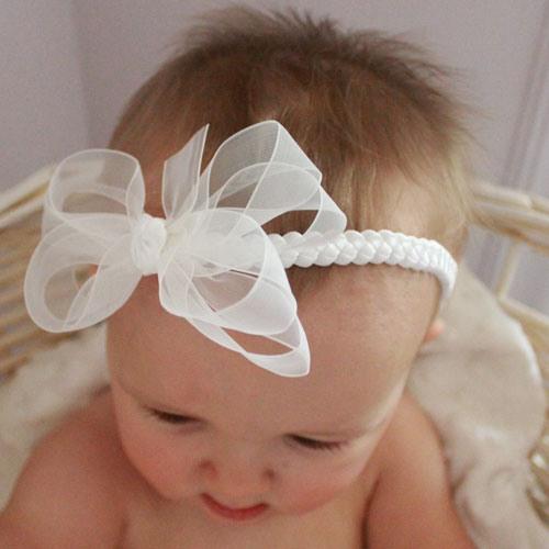 Повязка на голову своими руками для новорожденной