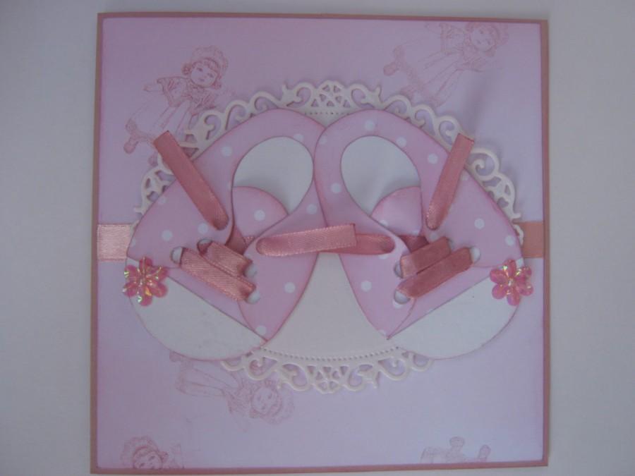 Сделать открытку с рождением дочки своими руками