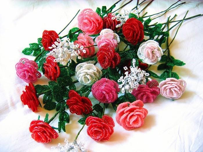 Бисероплетение курс розы
