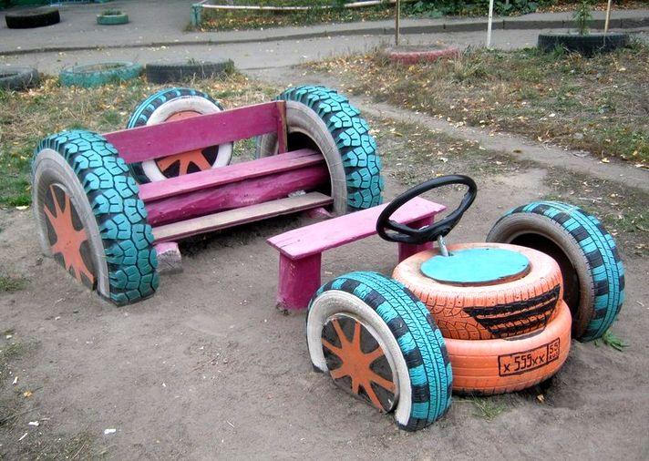 Как сделать своими руками детскую площадку во дворе