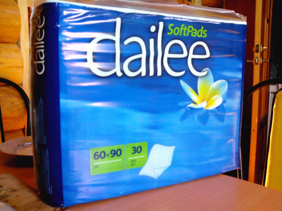 Пеленки одноразовые впитывающие dailee