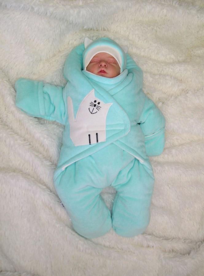 Зимние комбинезоны для новорожденного сшить своими руками
