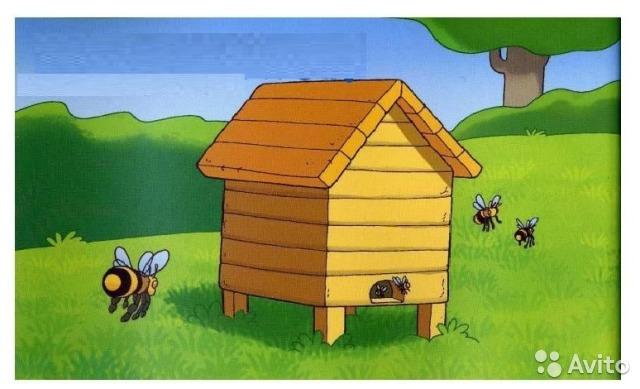 Рисунки пчел улей