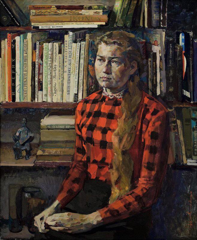 Вычугжанин А. И., «Портрет студентки Наташи Поповой», 1968 год. Картины русских художников 1968 года