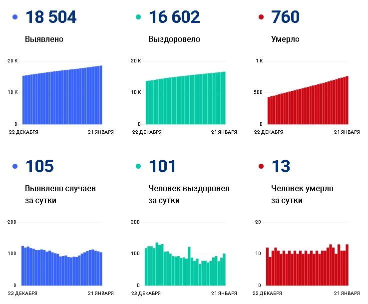 За три недели января от коронавируса скончались 232 жителя Чувашии - Новости