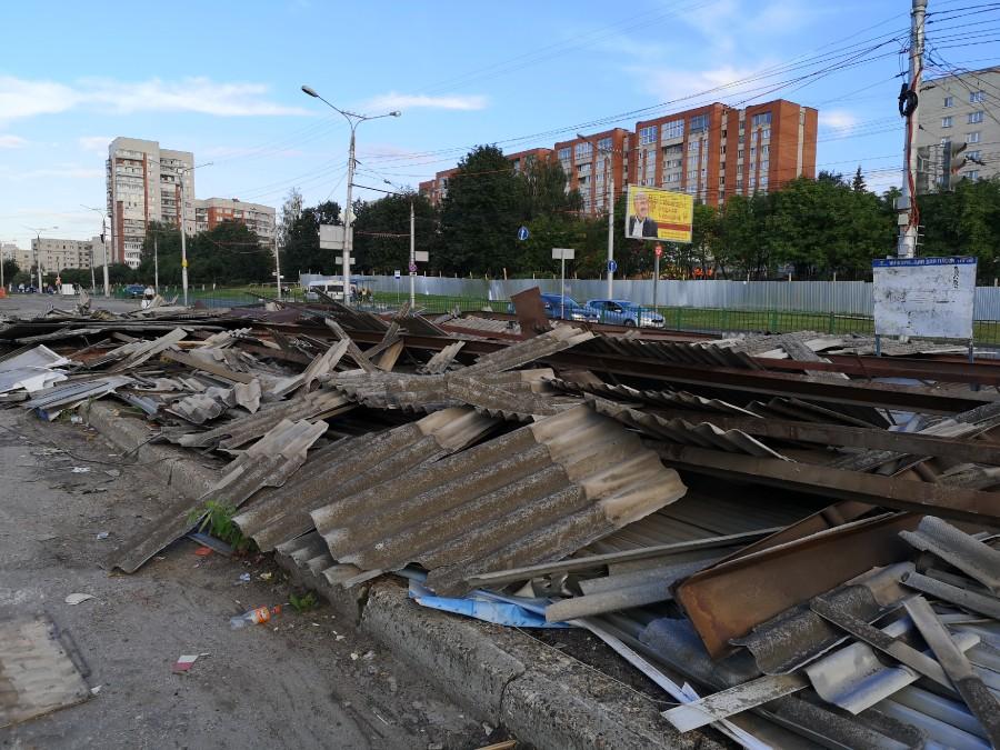 Разрушенная Новосельская автостанция