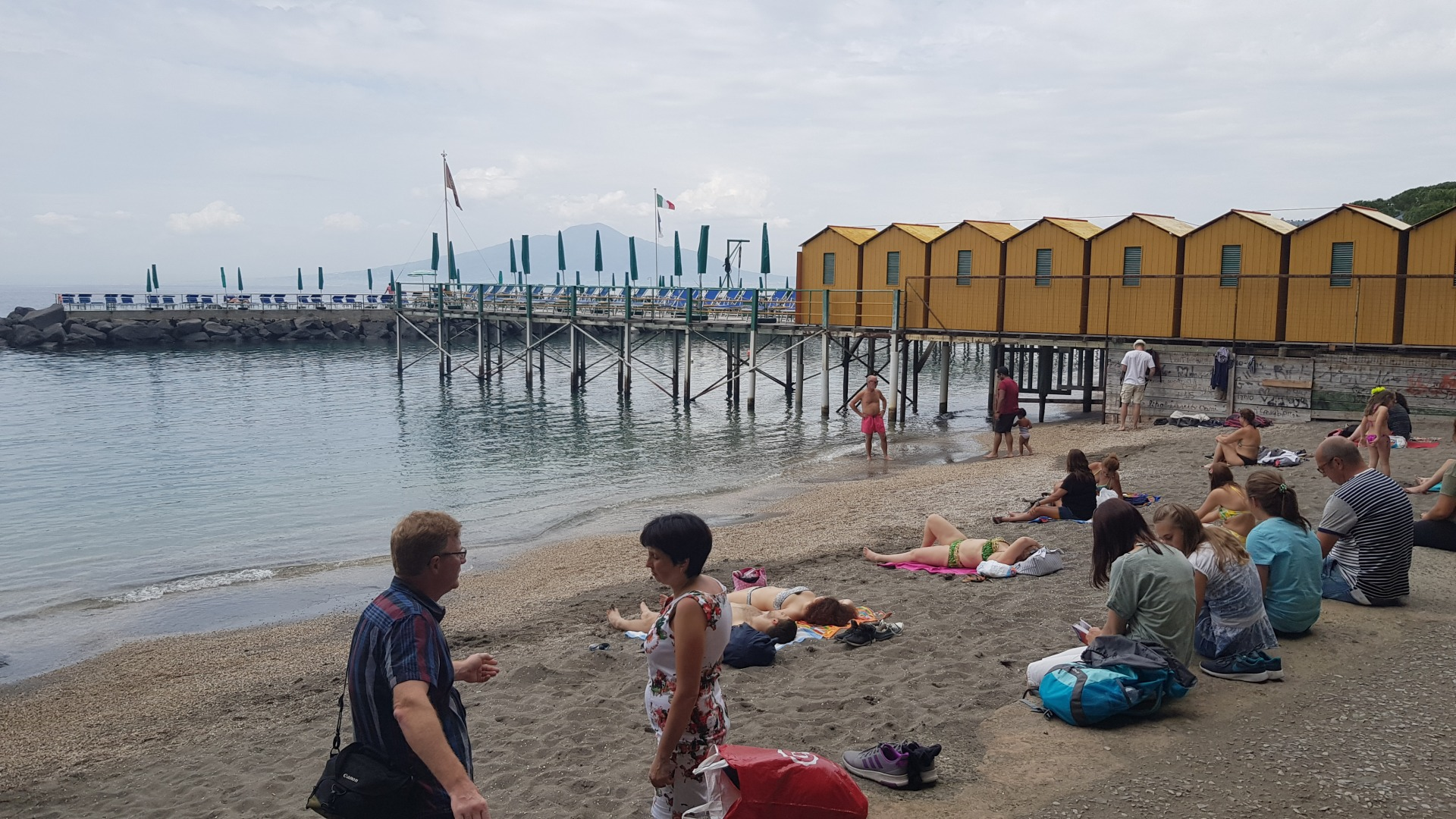 Бесплатный пляж для бедных в Сорренто