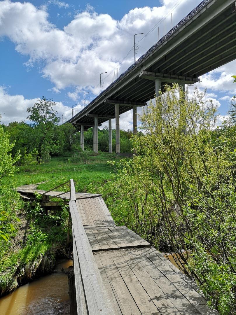 Мостик через Трусиху и Гагаринский мост