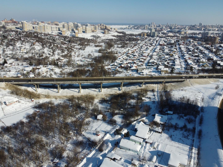 Вид на Октябрьский мост и Чебоксарку