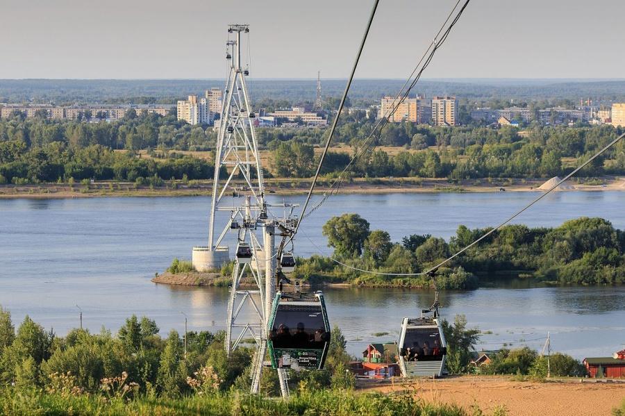 Фото: wikipedia.org. Канатная дорога между Нижним Новгородом и Бором