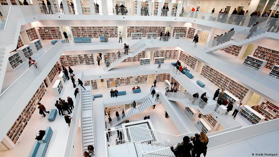 Библиотека Штутгарта - настоящая туристическая достопримечательность