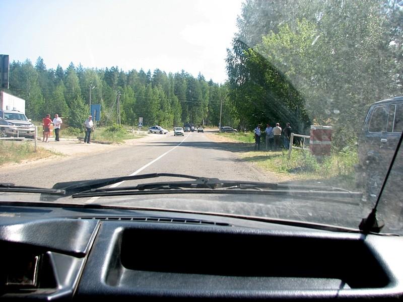 Кордон на въезде в Заволжье. Фотография пользователя Edd