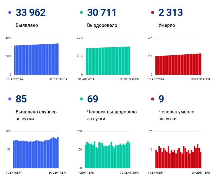 В сентябре COVID-19 унес жизни 301 пациента в Чувашии - Новости