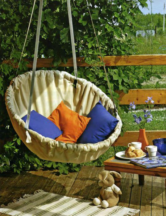 Кресло в сад своими руками