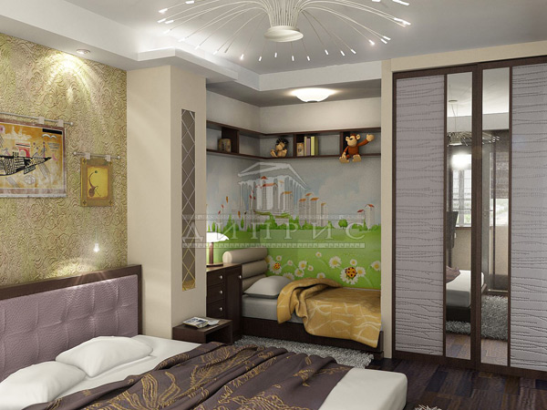 Дизайн детской зоны в однокомнатной квартире