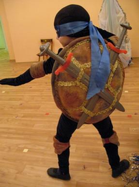 Сшить костюм ниндзя черепашки для мальчика своими руками