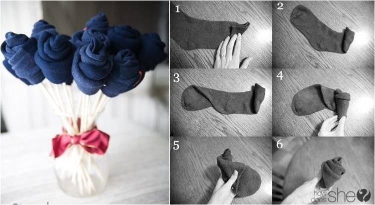 Поделки из мужского носка