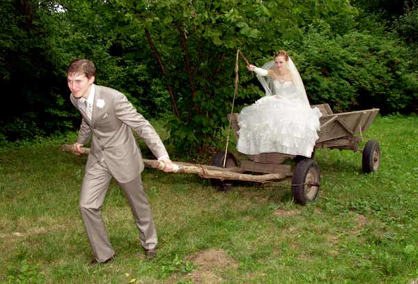 Прикол на свадьбе не