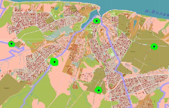 """Предложение сделано  """"с потолка """" глядя на карту города, исходя из принципов: - Чебоксары город небольшой по сравнению..."""