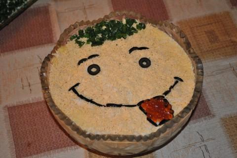 Рецепт салата смайлик с фото