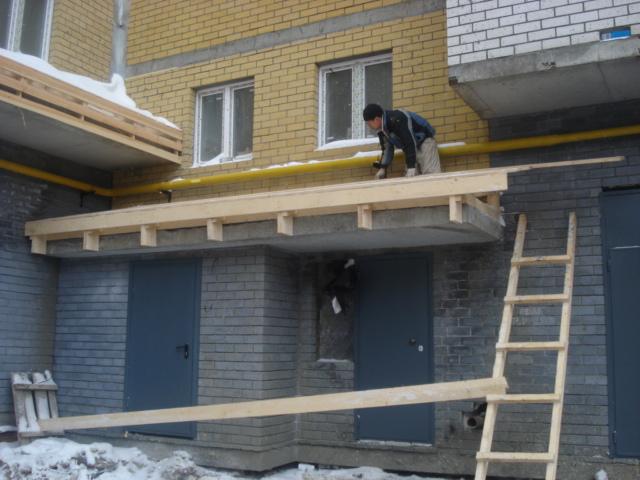 Как сделать бетонный навес