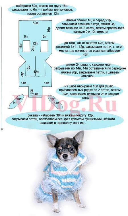 Вязаный комбинезон для собак выкройка