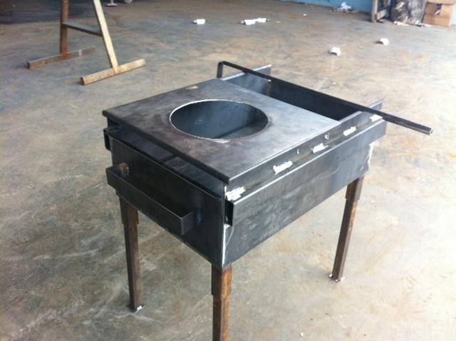 Печь под казан с мангалом из металла своими руками