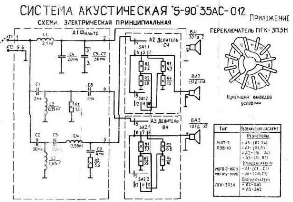 схема фильтр колонок s30.