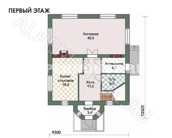 планировка дома 9на12
