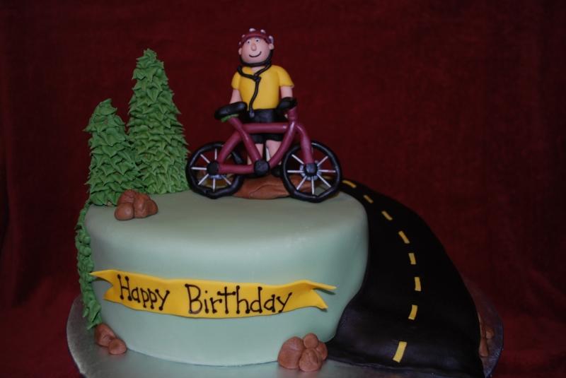 Поздравление днем рождения велосипедисту