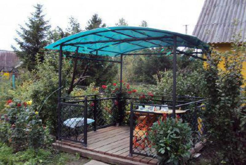 Садовый навес из поликарбоната