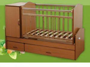 Описание: Детская кровать, предназначена для детей от рож.