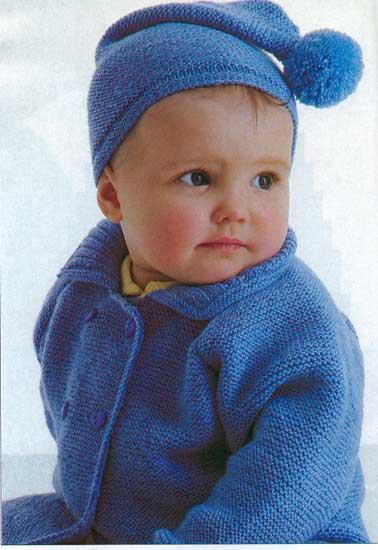 Кофта для малыша (связанная спицами. вязание для малышей кофточка...
